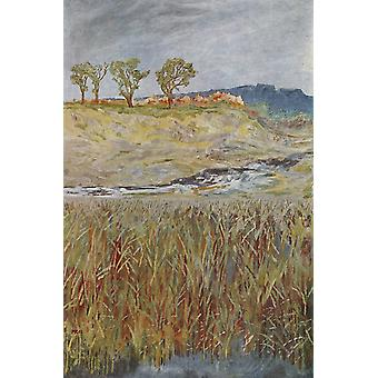 Landscape at the Unstrut, Max Klinger, 40x60cm with tray