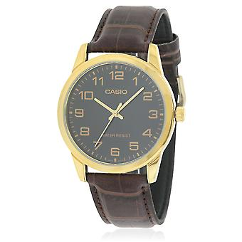 Casio Leather Mens Watch MTP-V001GL-1BUDF