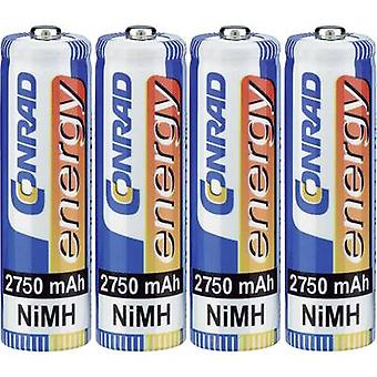 Conrad energy HR06 AA battery (rechargeable) NiMH 2750 mAh 1.2 V 4 pc(s)