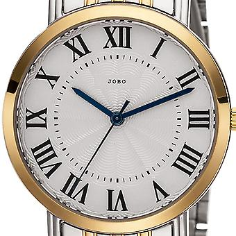 JOBO ladies wrist watch quartz analog stainless steel bicolor gold plated ladies watch