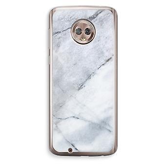 Motorola Moto G6 boîtier Transparent (doux) - blanc de marbre