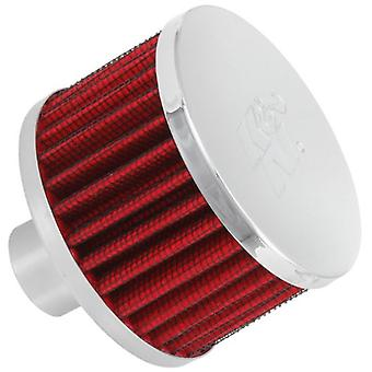 K&N 62-1170 Vent Air Filter / Breather: Vent Air Filter/ Breather; 1 in (25 mm) Flange ID; 2 in (51 mm) Height; 3 in (76