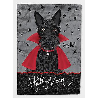 Carolines Treasures  VHA3037GF Halloween Vampire Scottie Flag Garden Size