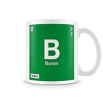 Wetenschappelijke bedrukte Mok met Element symbool 005 B - boor