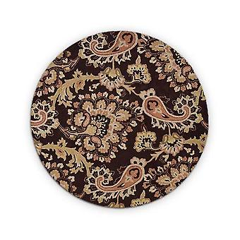 Multicolour Hand Tufted Wool Round  Rug