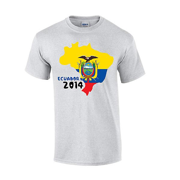 Ecuador 2014 land flagg T-shirt (grå)