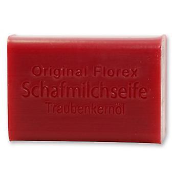 Florex Schafmilchseife - Traubenkernöl - pflegt trockene Hände mit zarten Duft 100g