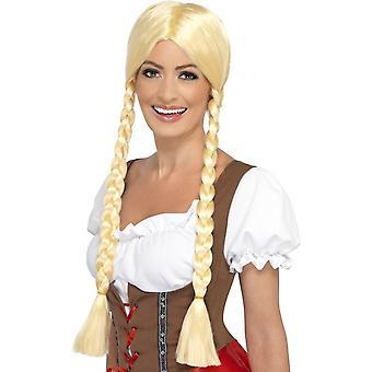 Long Blonde Plaited Wig, Bavarian Beauty Wig, Blonde, Plaited