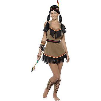 Indianerin Kostüm, UK Kleid 8-10