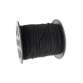10 x sort imiteret ruskind 1 m x 3 mm rem ledningen tråde HA02710