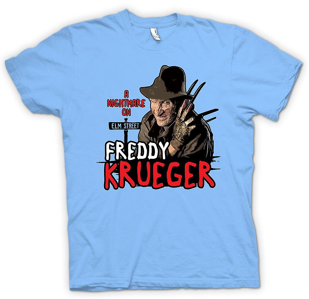 Heren T-shirt - Nightmare On Elm Street - Freddy Krueger