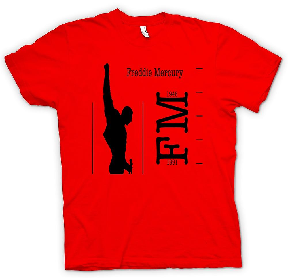 Mens t-shirt - Freddie Mercury Queen - FM 46-91