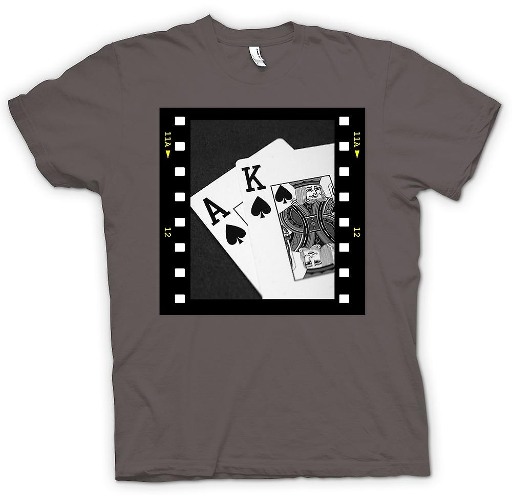 Mens T-shirt-Poker-Hand-Black-Jack-Ass-König