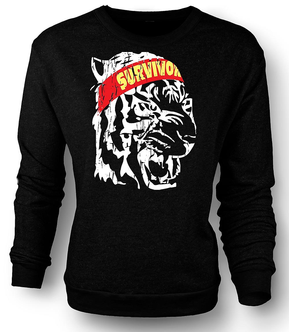 Mens Sweatshirt Survivor - Eye Of The Tiger