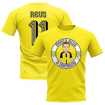 Marco Reus Borussia Dortmund Illustration T-Shirt (Yellow)