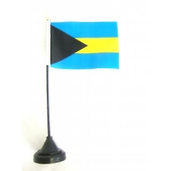 Bahamas Table Flag with Base and Stick