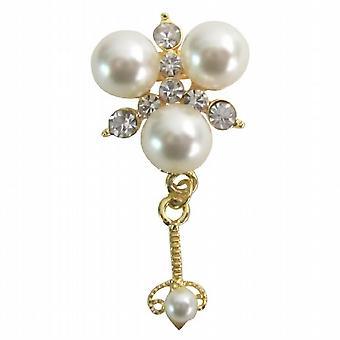 Wedding Classified Apparel Accessories Cute Dangling Pearls Brooch Pin