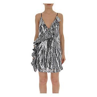 Laneus Silver Glitter Dress