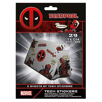 Deadpool Official Laptop Macbook Stickers (Pack of 29)