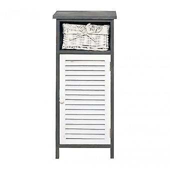 Rebecca Furniture Cabinet Bathroom nightstand Shabby home décor White Grey 1 drawer 1 retro Door