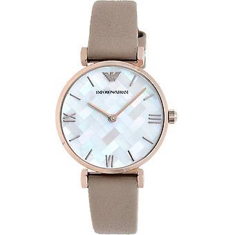 Emporio Armani Ar11111 marrone in pelle madreperla quadrante donna Watch