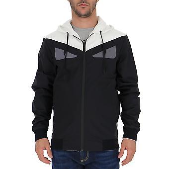 Fendi Black Nylon Outerwear Jacket
