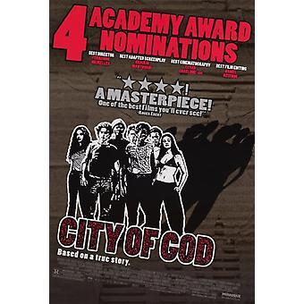 City Of God (Double Sided Awards Style) (2002) Original Kino Poster