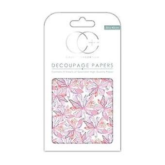 Craft Consortium Floral Notes vit decoupage papper (CCDECP119)