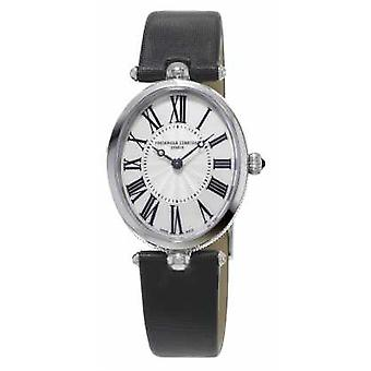 Frederique Constant Classics Art Deco Womens Black Strap White Mother Of Pearl FC-200MPW2V6 Watch