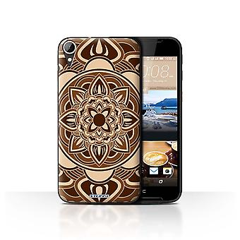 STUFF4 Case/Cover for HTC Desire 830/Petal/Sepia/Mandala Art