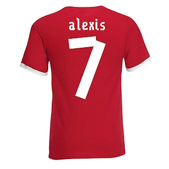 Alexis Sanchez Chile Ringer Tee (red)