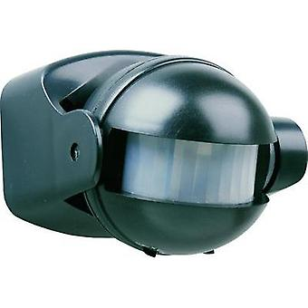 Surface-mount PIR motion detector Smartwares 10.017.11 180 ° Black IP44