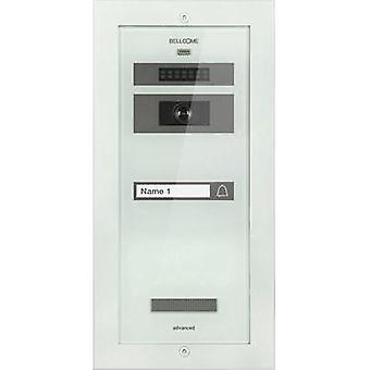 Video door intercom Corded Outdoor panel Bellcome VPA.1F002.BLW Detached White