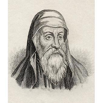 Origenes of Origenes Adamantius, geboren Circa 185 stierf 254 vroege christelijke Scholar theoloog en vader van de christelijke kerk uit het boek Crabbes historische woordenboek gepubliceerd 1825 PosterPrint