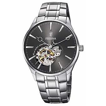 Festina Mens Automatic Stainless Steel Grey Dial F6847/2 Watch