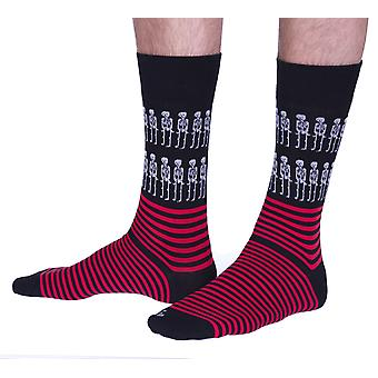 The Haunted Pirate luxury cotton dress sock in black | Made in Wales by Corgi
