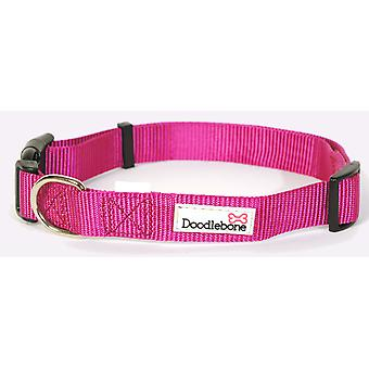 Doodlebone Bold Nylon Collar Pink Extra Small 15mm X20-30cm