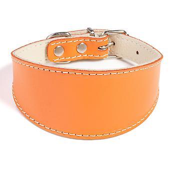 Doggy ting Greyhound læder hund krave Orange 45cm
