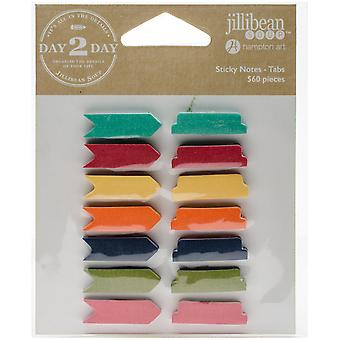 Day 2 Day Planner Sticky Notes 14/Pkg-Arrows & Tabs/7 Colors Each JB1219