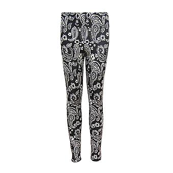 Black and White Paisley Leggings UK 4