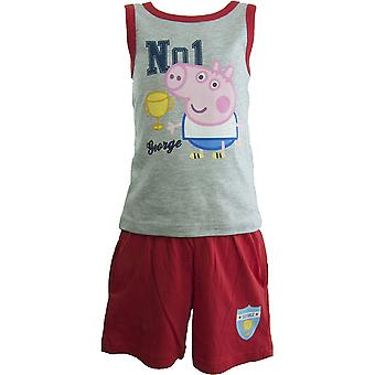 George Peppa Pig Boys Clothing set sleeveless T-shirt and shorts