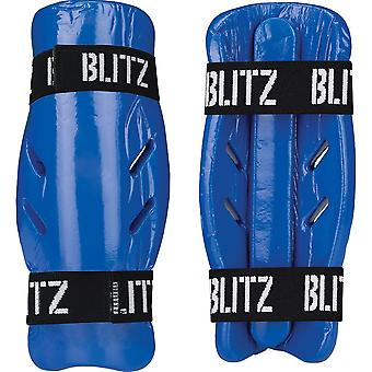Blitz Sports Dipped Foam Shin Guard - Blue