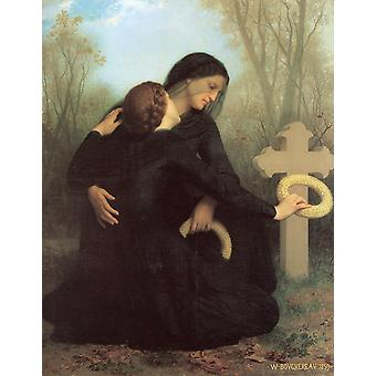 William Bouguereau - The Day of the Dead (1859) Poster Print Giclee