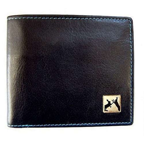 Tyler and Tyler Leather Sparring Hares Bill Fold Wallet - Black