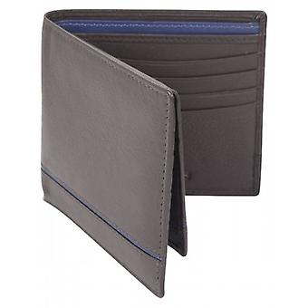 Dents Smooth Two Tone Removable Pass holder and RFID Blocking Wallet - Chocolate/Royal Blue