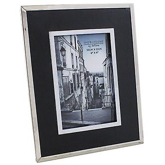 Juliana Impressions Nickel Plated Textured Photo Frame 4x6 - Black/Silver