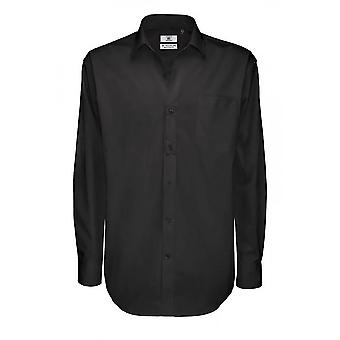 B&C Mens Sharp Twill Cotton Long Sleeve Shirt / Mens Shirts