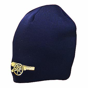 Arsenal FC Official Gunners Crest Design Knitted Beanie Hat