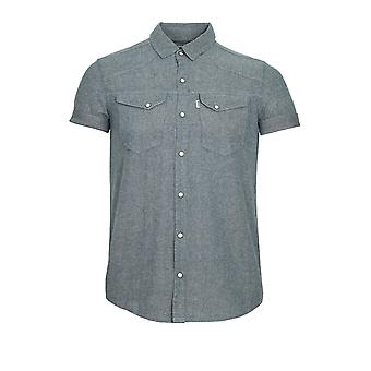 883 POLICE Oblivion Short Sleeve Shirt Grey Marl
