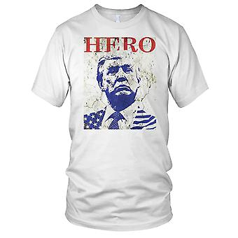 President Trump Hero Ladies T Shirt